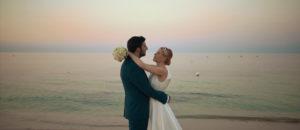 love hugs - bride and groom